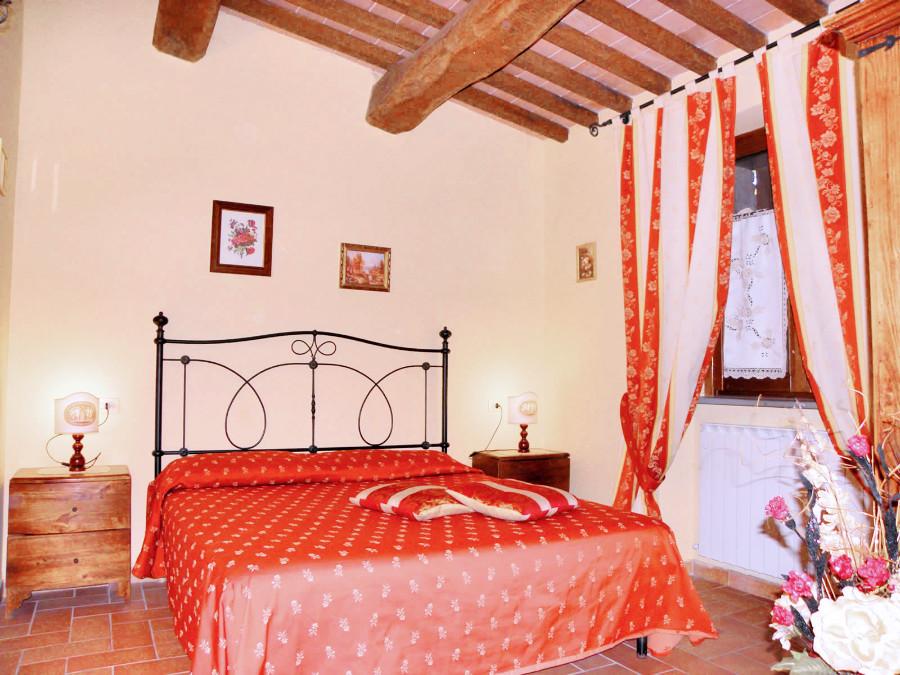 Le camere dell'agriturismo Aurora a Gubbio