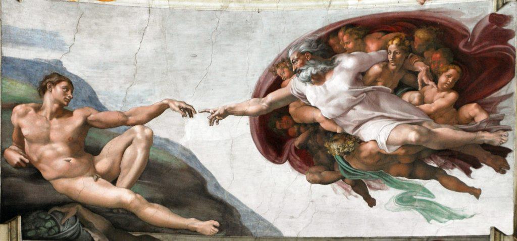 Cappella Sistina Creazione di Adamo