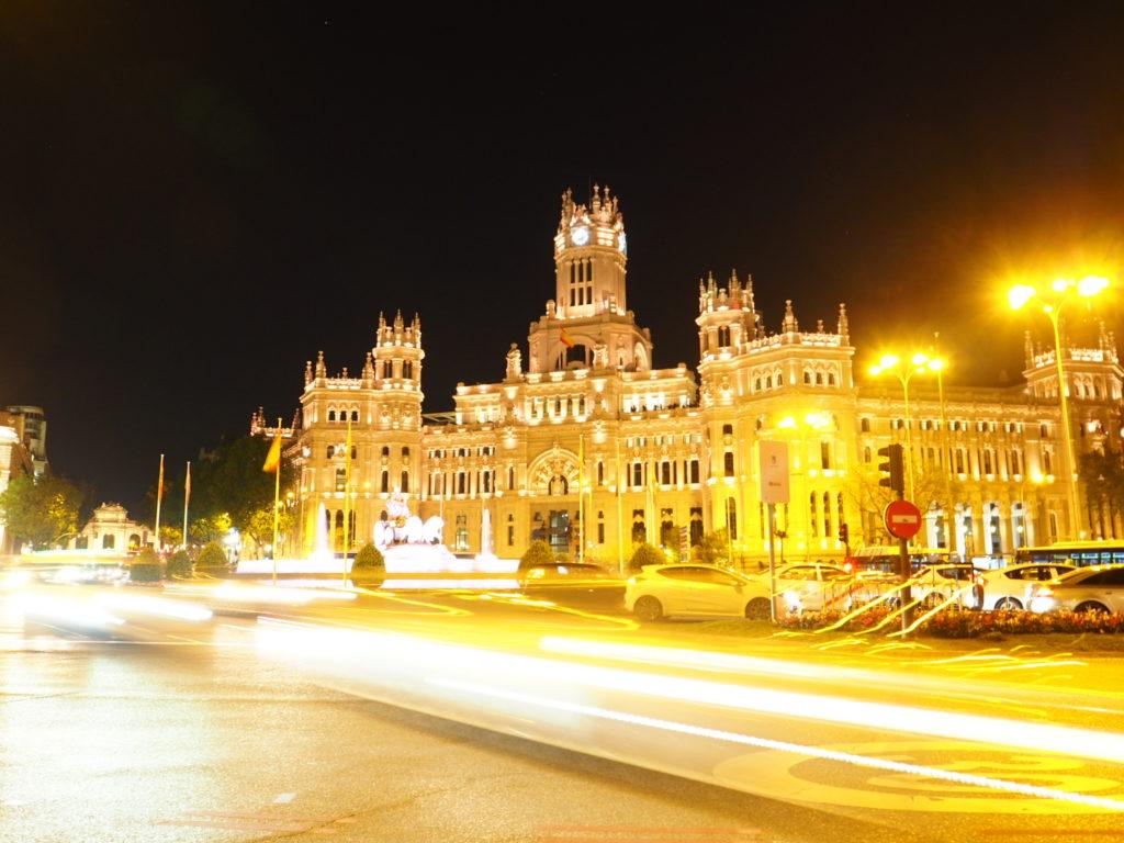 Plaza Cibeles di notte